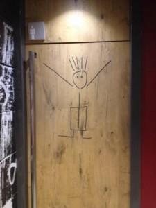 The washrooms are more fun in Barcelona, men