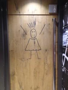 The washrooms are more fun in Barcelona, women