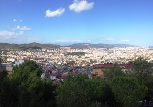 Looking down at Barcelona from way up!
