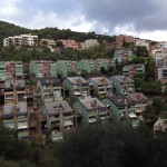 People's homes on the mountainside