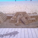 You can find new sandcastles every night